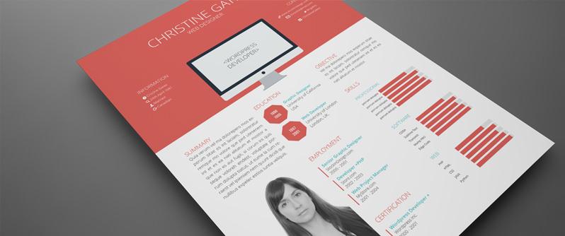 stockindesign free flat resume template