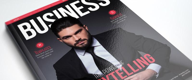 Business magazine template tempodust profesional business magazine indesign template flashek Choice Image